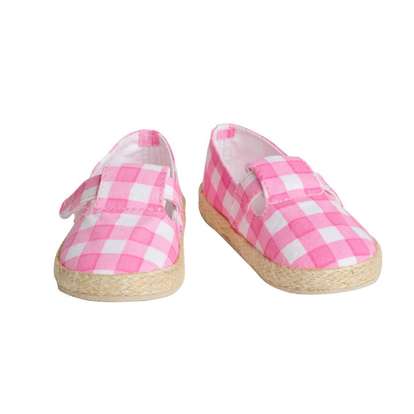 Mini Espadrille Rose Checks
