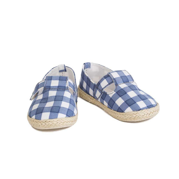 Mini Espadrille French Blue Checks