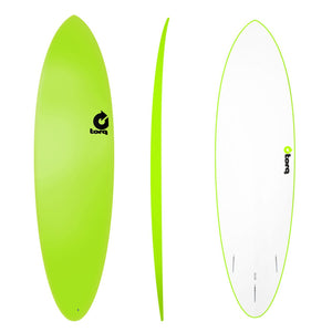 Σανίδα surf Torq 6'8'' Epoxy TET funboard Soft Deck Green