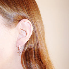 hoop cross ear