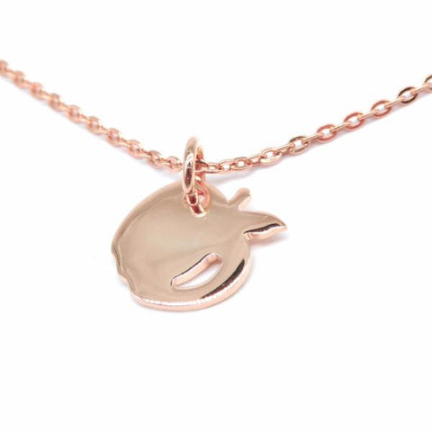 Apple Necklace (Rose Gold)