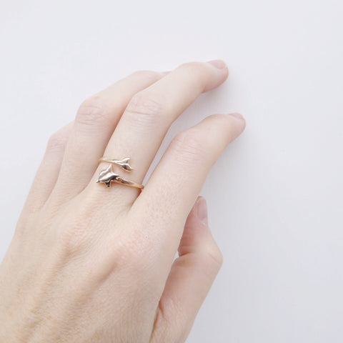 Double Bar Ring 14k gold - Correy & Lyon jewellery