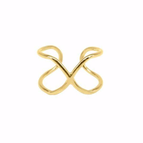 Cross Ring (Gold) - Correy & Lyon silver Jewellery