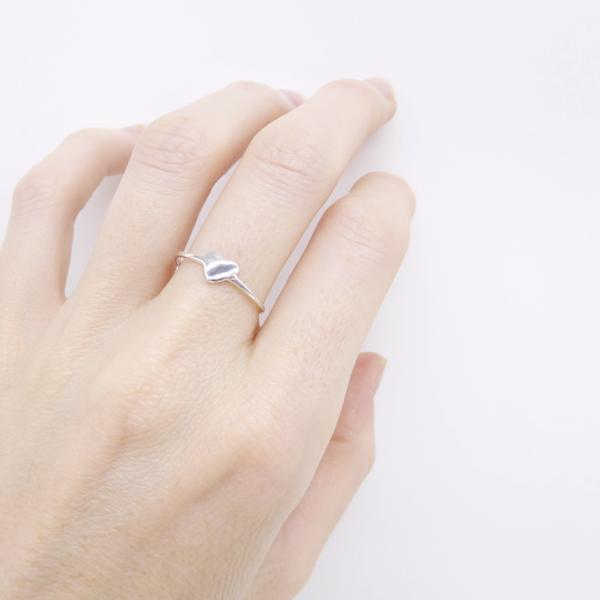 Double Heart Ring (Silver) - Correy & Lyon Silver Jewellery