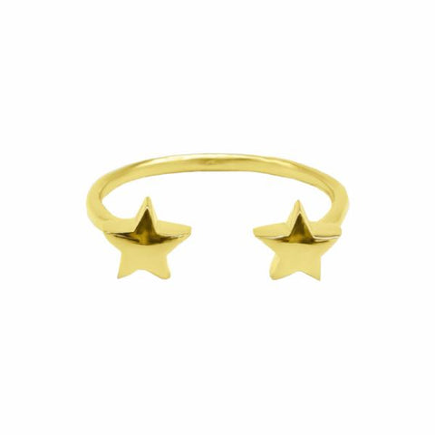 Double Star Ring (Gold) - Correy & Lyon Silver Jewellery
