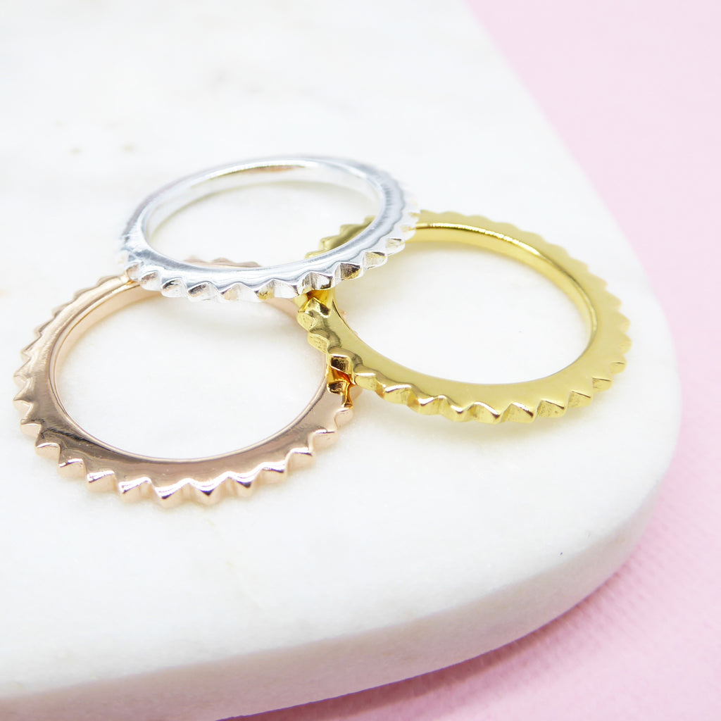 Mini Stud Eternity Ring (Rose Gold) - Correy & Lyon Silver Jewellery