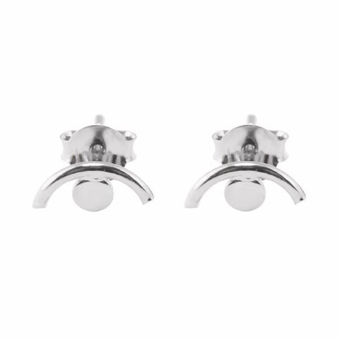 Eye stud earring sterling silver - Correy & Lyon jewellery