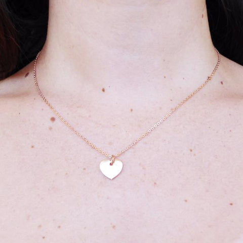 Heart Necklace rose gold plated - Correy & Lyon jewellery