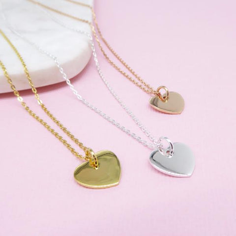 Heart Necklace 14k gold - Correy & Lyon jewellery