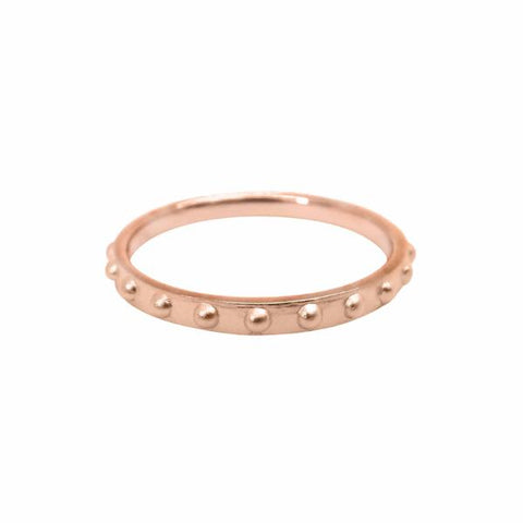 Mini Ball Eternity ring 14k rose gold- Correy & Lyon jewellery
