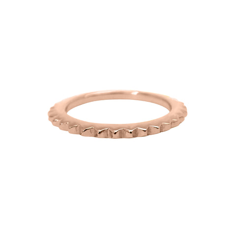 Mini Stud Eternity ring 14k rose gold- Correy & Lyon jewellery