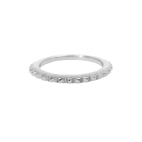 Mini Stud Eternity ring sterling silver - Correy & Lyon jewellery