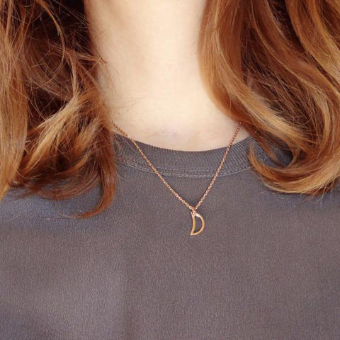 Crescent Moon necklace rose gold - Correy & Lyon jewellery