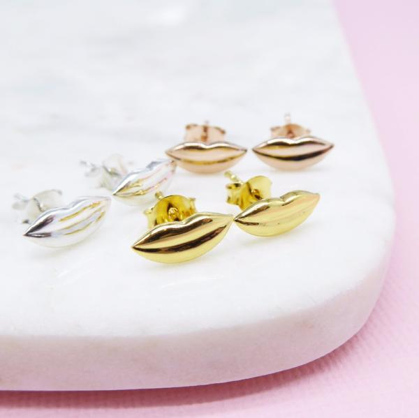 Mouth Studs (Gold) - Correy & Lyon Silver Jewellery