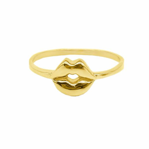 Mouth Ring (Gold) - Correy & Lyon Silver Jewellery