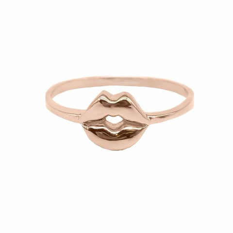 Mouth Ring (Rose Gold) - Correy & Lyon Silver Jewellery