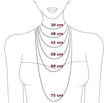 Necklace Size Chart - Correy & Lyon jewellery