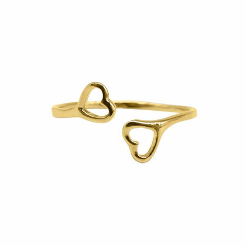 Open Heart Ring (Gold) - Correy & Lyon Silver Jewellery