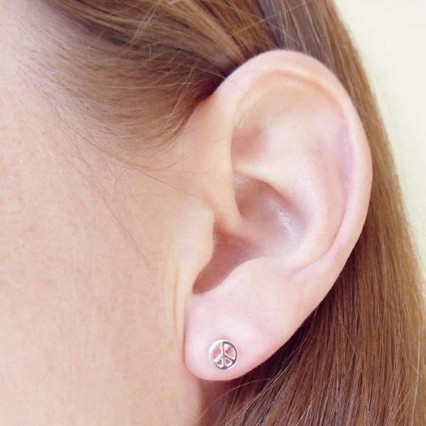 Peace Studs (Rose Gold) - Correy & Lyon Silver Jewellery