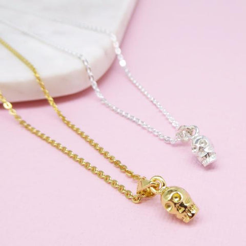 Skull necklace 14k gold - Correy & Lyon jewellery