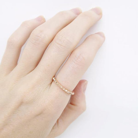 Mini Stud Eternity ring 14k rose gold plated- Correy & Lyon jewellery