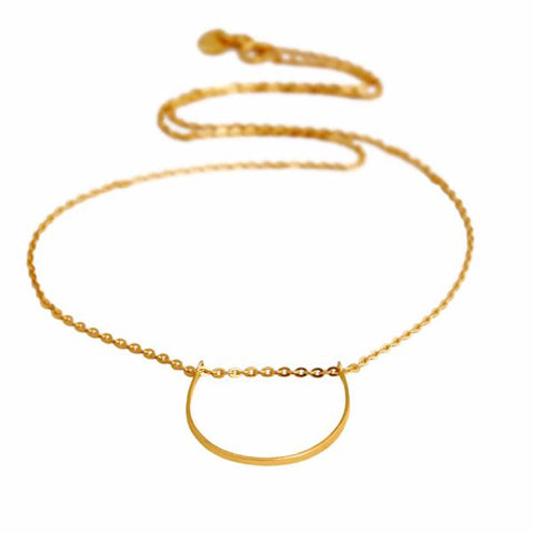 U Necklace gold - Correy & Lyon jewellery