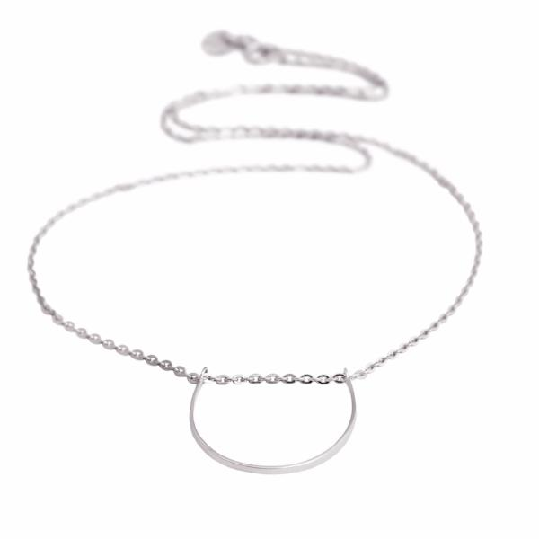 U Necklace sterling silver - Correy & Lyon jewellery