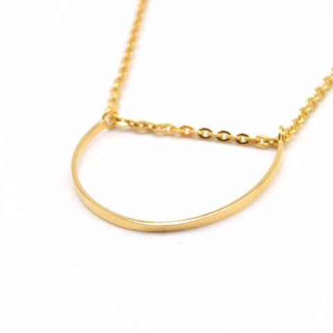 U Necklace (Gold) - Correy & Lyon Silver Jewellery