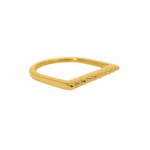 Mini Stud U ring 14k gold - Correy & Lyon jewellery