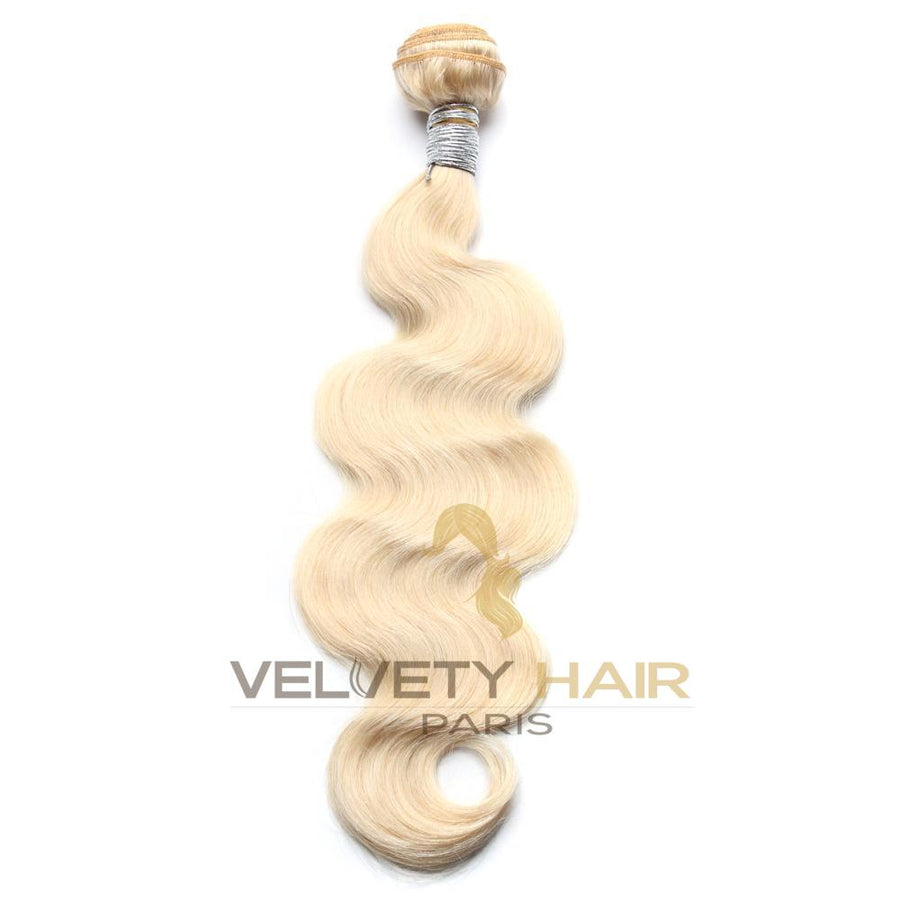 Tissage Remy Blond 613# body wave cheveux 100% naturels - VELVETY PARIS