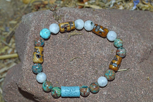 Bracelets Aromatherapy Healing Bracelet - Spiritual Connection - Blue Calsilica Jasper and Moonstone