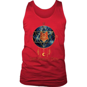 Clothing District Mens Tank / Red / S The Foxes Den - District Men's Tank