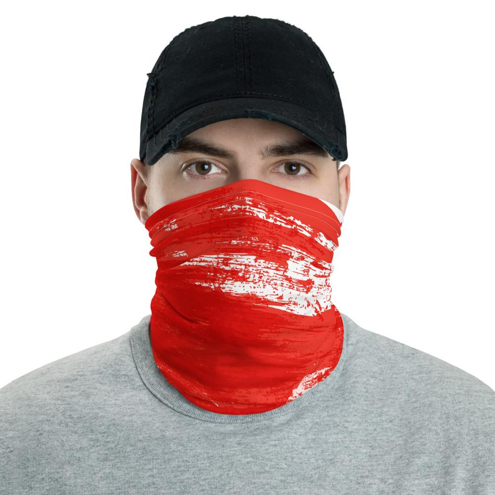Clothing Red Stroke Neck Gaiter Mask