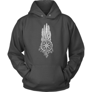 Clothing Unisex Hoodie / Charcoal / S Runic Redwoods (White) - Unisex Hoodie