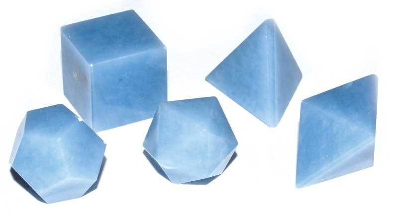 Crystal Gift Sets Angelite Platonic Solids