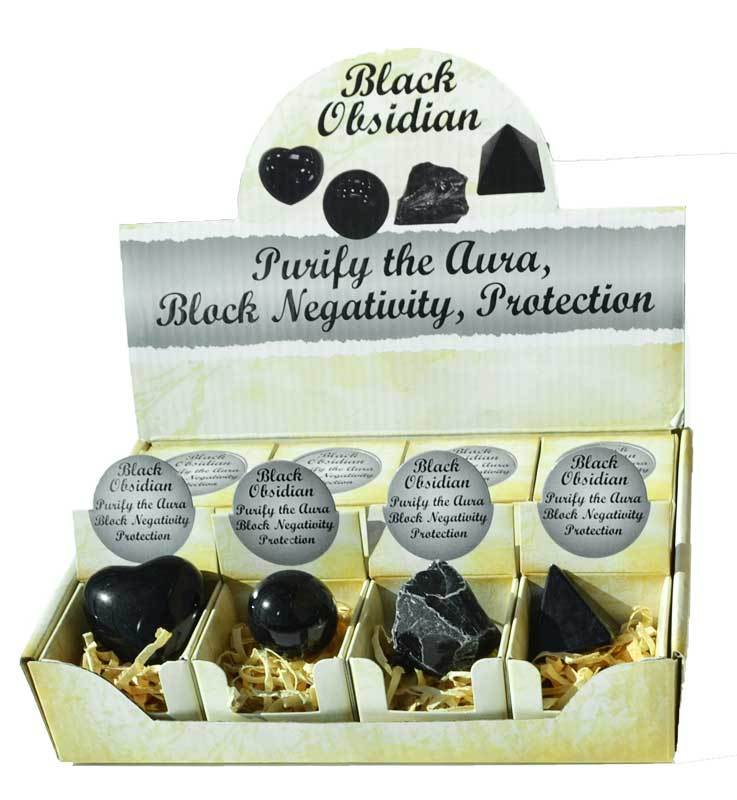 Crystal Gift Sets Black Obsidian Gift Box (Set of 12)