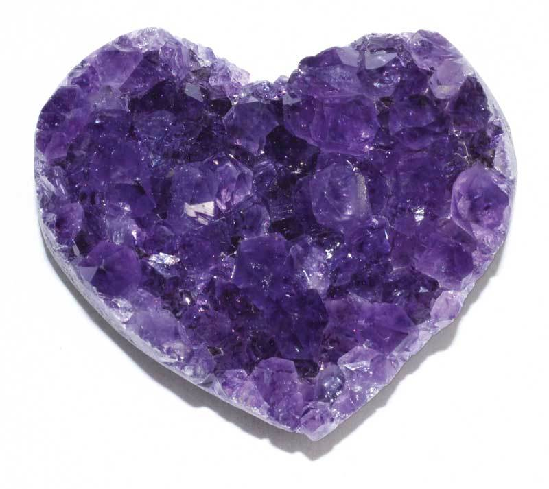Crystal Hearts Amethyst Druse Heart | A Quality | 2