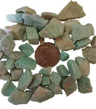 Crystal Raw Amazonite Raw Stones | 1 lb