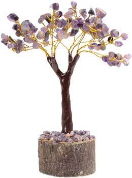 Crystal Trees Amethyst gemstone tree 160 beads