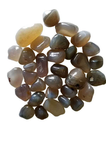 Chalcedony Tumbled Stones Crystals | 1 lb
