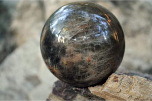 Crystal Wholesale 66.64 mm Black Moonstone Crystal Sphere