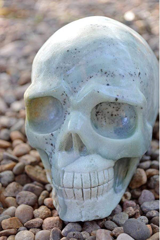 Amazonite Crystal Skull Carving IV - Large