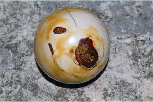 "Crystal Wholesale Australian Yellow & White Mookaite ""Mook"" Jasper Crystal Sphere II"