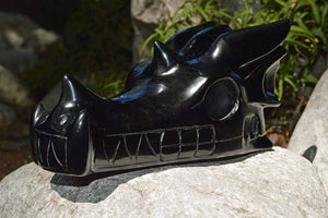 Crystal Wholesale Black Obsidian Dragon Skull - Large
