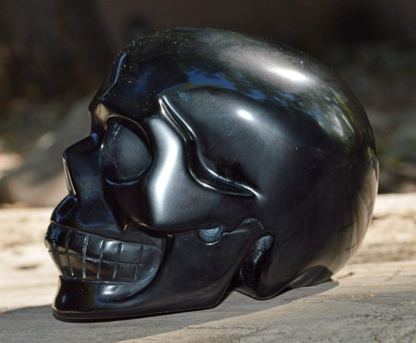 Crystal Wholesale Black Obsidian Skull - Medium
