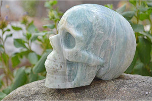 Crystal Wholesale Blue Aragonite - Crystal Skull Carving I