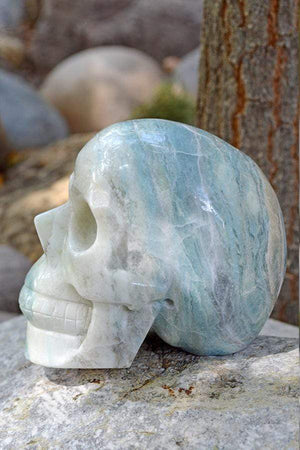Crystal Wholesale Blue Aragonite - Crystal Skull Carving II