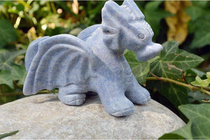 Crystal Wholesale Blue Aventurine Crystal Dragon Carving - Medium