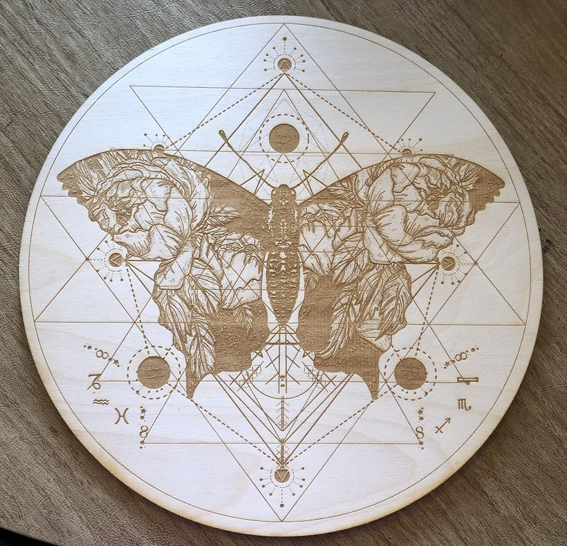 Grid Butterfly Sri Yantra Crystal Grid Alter Table