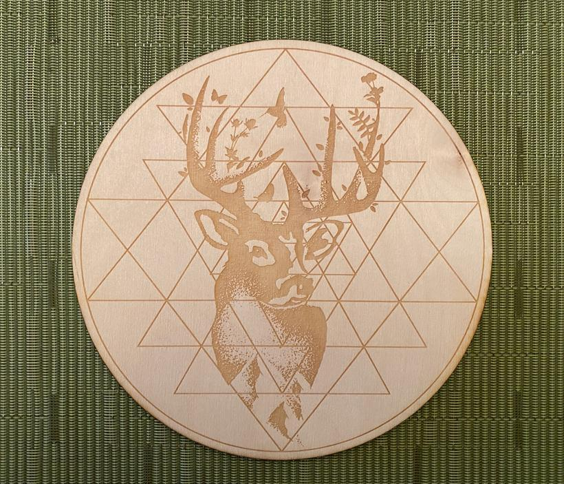 Grid Deer Buck Sri Yantra Crystal Grid Alter Table